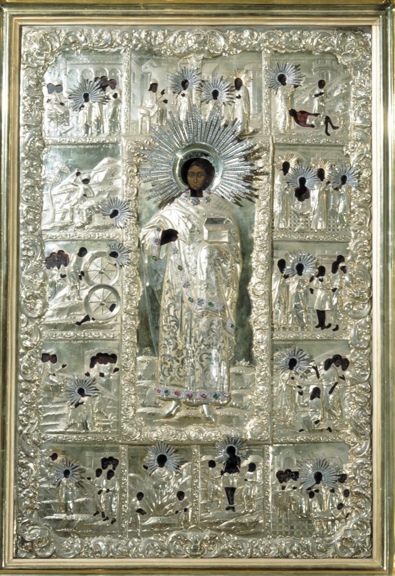 Древняя чудотворная икона св. великомученика и целителя Пантелеимона, находившаяся в Старом Русике