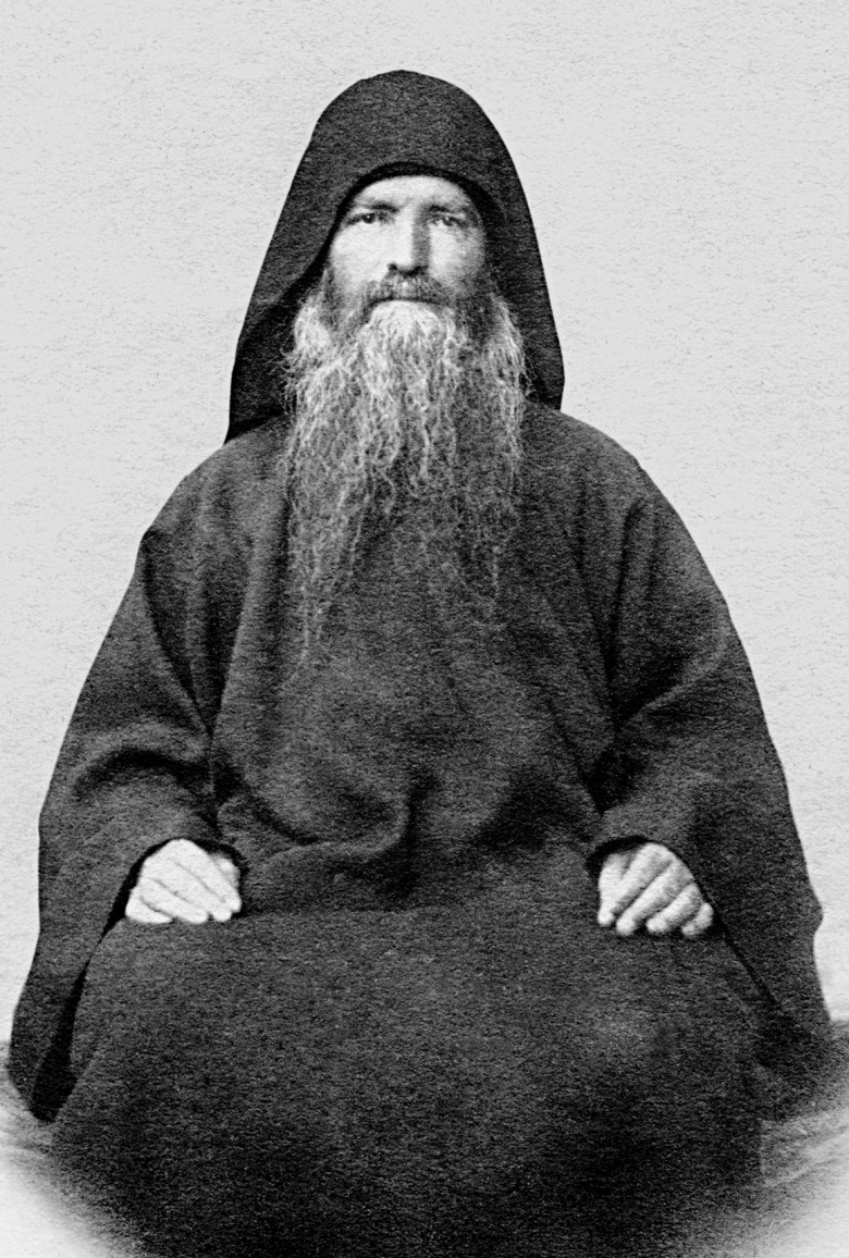 Духовник иеросхимонах Иероним в начале своих трудов в Русском монастыре. 1850-е гг.