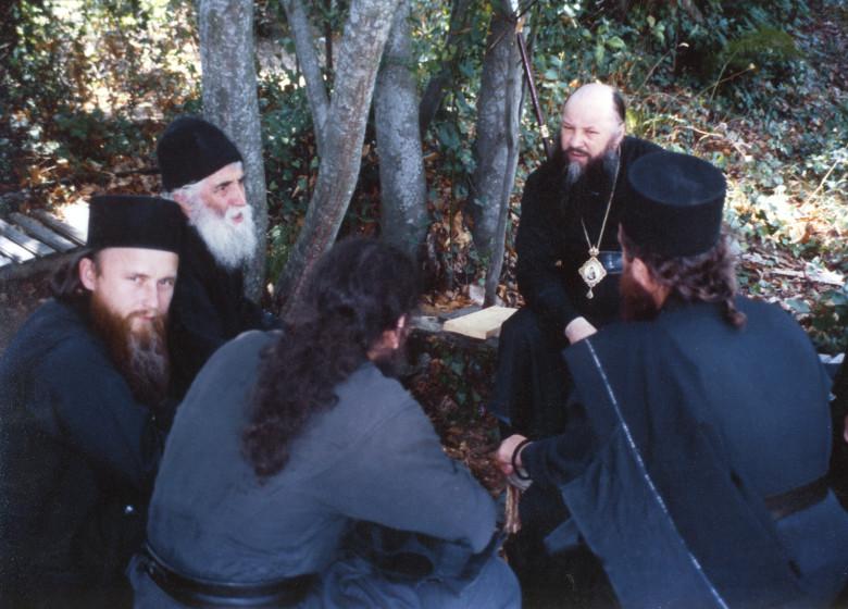 Беседа старца Паисия с паломниками. 1992 г.