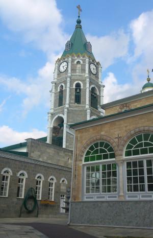 Колокольня Русского Афонского Свято-Пантелеимонова монастыря