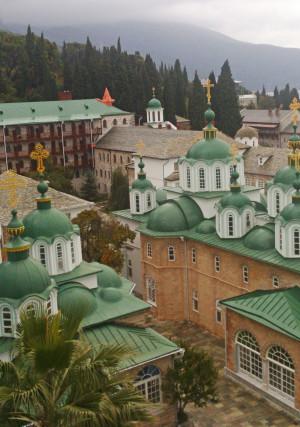 Внутренний вид Русского на Афоне Свято-Пантелеимонова монастыря