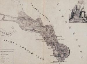 Карта Афонского полуострова