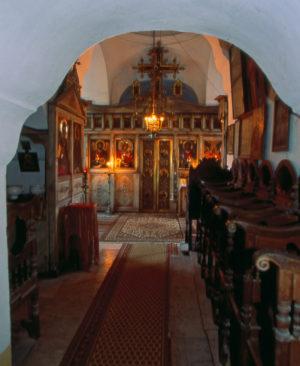 В древнем Успенском храме обители Ксилургу