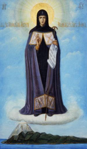 Икона Божией Матери «Игумения Святой Горы Афонской». XIX в. Пантелеимонов монастырь