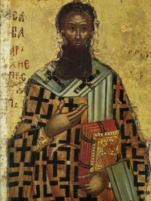 Святитель Савва. Икона монастыря Хилендарь
