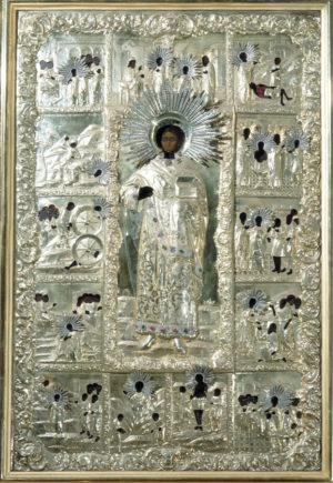 Древняя икона великомученика Пантелеимона, которая находилась в Старом Русике
