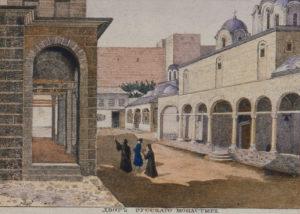 В Новом Русике. Литография 1835 г.