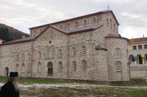 Карея. Успенский собор и здание Протата